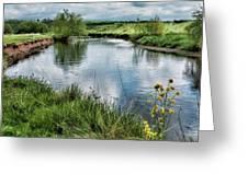 River Tame, Rspb Middleton, North Greeting Card