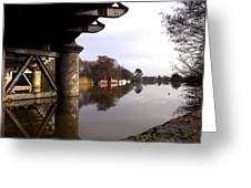 River Thames At Sandford. Greeting Card by Mike Lester