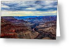 River Through The Canyon Greeting Card