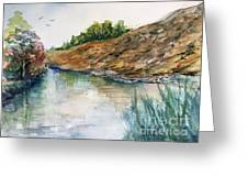 River Through The Hills Greeting Card