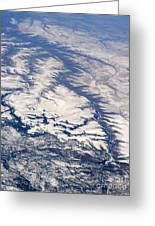River Valley Aerial Greeting Card