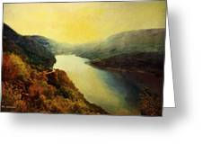 River Valley Sunrise Greeting Card