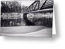 River View B And W Greeting Card