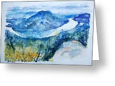River View Landscape Greeting Card