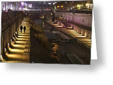 River Walk - Cheonggyecheon - Seoul Greeting Card