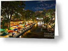 A Night On The River Walk Greeting Card