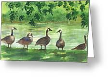 River Walk Or Where Is Waldo Greeting Card