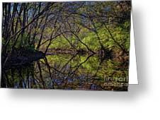 River Walk Reflections Greeting Card