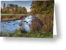 River Wansbeck At Wallington Greeting Card