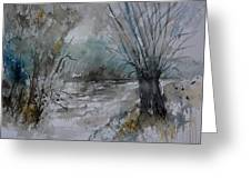 River Watercolor 711082 Greeting Card