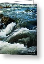 River With Rapids Greeting Card
