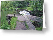 River Wye Weir Greeting Card
