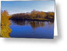 River Wye,herefordshire Uk Greeting Card