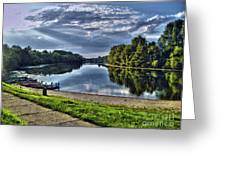 Riverbank Boats Greeting Card