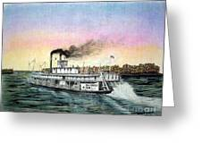 Riverboat Bald Eagle Greeting Card