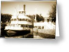 Riverboat, Liberty Square, Walt Disney World Greeting Card