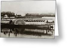 Riverboat  Mayflower Of Plymouth   Susquehanna River Near Wilkes Barre Pennsylvania Late 1800s Greeting Card