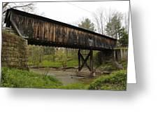 Riverdale Road Covered Bridge Greeting Card