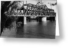 Riverfront Bridge Greeting Card
