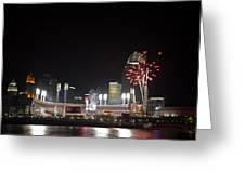 Riverfront Home Run  Ohio Greeting Card