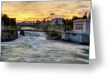Riverfront Park Sunrise Greeting Card