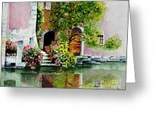 Riverfront Property Greeting Card
