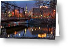 Riverplace Minneapolis Little Europe Greeting Card