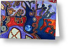 Rivers Of Arcturian Emination Greeting Card