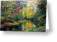 Riverscape In Autumn Greeting Card
