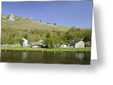 Riverside Setting At Monsal Dale Greeting Card