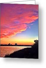Riverside Skyline Greeting Card