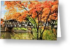 Riverwalk Covered Bridge Greeting Card