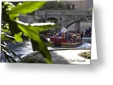 Riverwalk In San Antonio Greeting Card