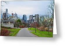 Riverwalk - Philadelphia Greeting Card