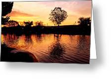 Riverwalk Sunrise  Greeting Card