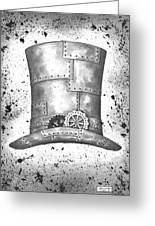 Riveting Top Hat Greeting Card by Adam Zebediah Joseph