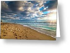 Riviera Beach Sunrise Greeting Card