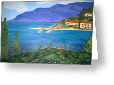 Riviera Remembered Greeting Card by Alanna Hug-McAnnally
