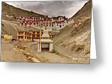 Rizong Monastery Ladakh Jammu And Kashmir India Greeting Card