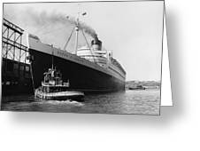 Rms Queen Elizabeth Greeting Card