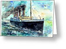 Rms Titanic White Star Line Ship Greeting Card