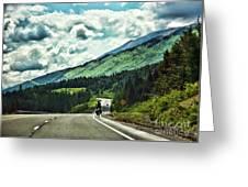 Road Alaska Bicycle  Greeting Card