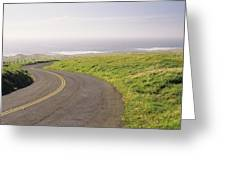 Road Along The Coast, Point Reyes Greeting Card