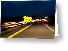 Road At Night 1 Greeting Card