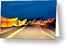 Road At Night 2 Greeting Card