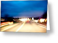 Road At Night 5 Greeting Card