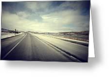 Road Greeting Card
