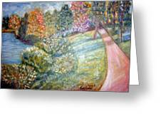 Road By The River Greeting Card