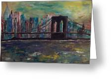 Road From Brooklyn Greeting Card