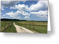 Road From The Farm Greeting Card